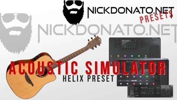Acoustic Simulator Helix Preset