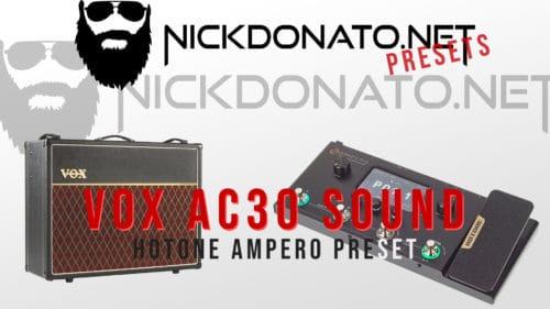 Vox Ac30 Hotone Ampero Preset