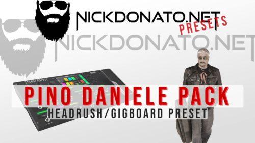 Pino Daniele Headrush Pack