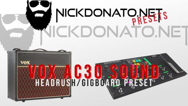Vox Ac30 Headrush Preset